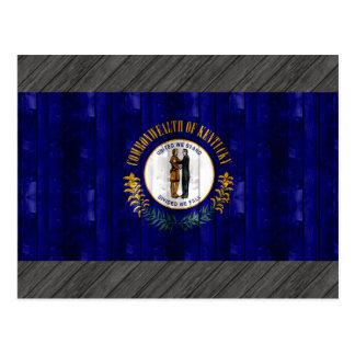 Wooden Kentuckee Flag Postcard