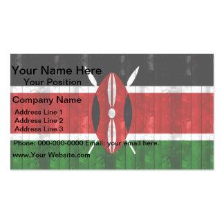 Wooden Kenyan Flag Business Card