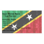 Wooden Kittian Flag Double-Sided Standard Business Cards (Pack Of 100)