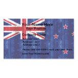 Wooden Kiwi Flag Business Card