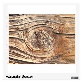 Wooden Knot Close Up Wall Sticker
