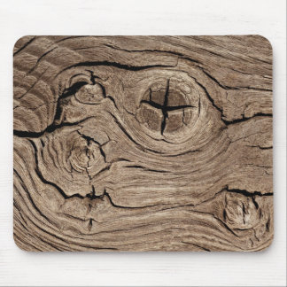 Wooden Knots Faux Texture Mouse Pad