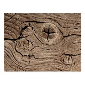 Wooden Knots Faux Texture Postcard