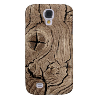 Wooden Knots Faux Texture Samsung Galaxy S4 Cover