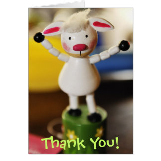 Wooden Lamb Stationery Note Card