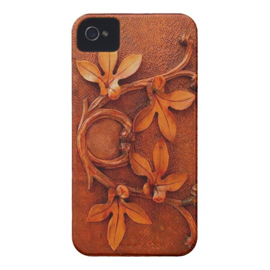 wooden leaves iphone iPhone 4 Case-Mate case