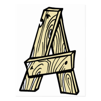 wooden letter A Postcard