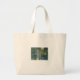 Wooden Letterforms Large Tote Bag
