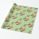 Wooden Llama Wrapping Paper