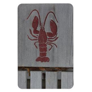 Wooden Lobster Photo Vinyl Magnet