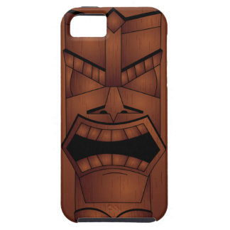 Wooden Look Tiki Mask iPhone SE/5/5s Case