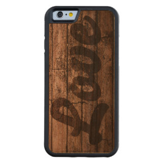 Wooden Love Print Carved Cherry iPhone 6 Bumper Case