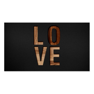 Wooden Love Typography Image Print Business Card Template