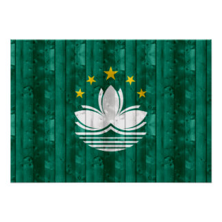 Wooden Macese Flag Poster