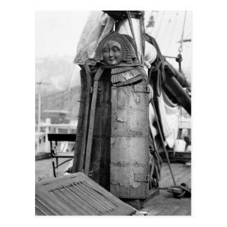 Wooden Maiden, Torture Device, 1910s Postcard