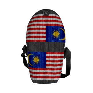 Wooden Malaysian Flag Courier Bag