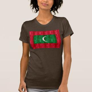 Wooden Maldivan Flag T-Shirt