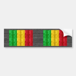 Wooden Malian Flag Bumper Sticker