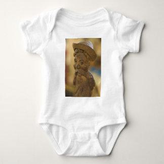 Wooden man baby bodysuit
