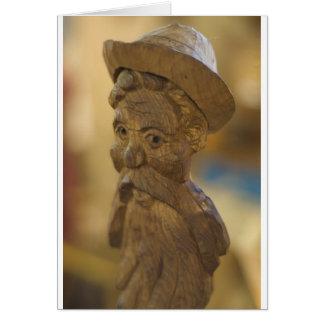Wooden man card