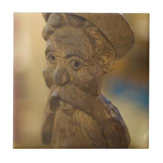 Wooden man ceramic tile