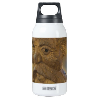 Wooden man insulated water bottle
