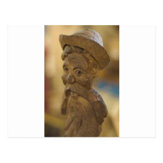 Wooden man postcard