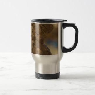 Wooden man travel mug