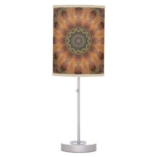 Wooden Mandala Desk Lamps