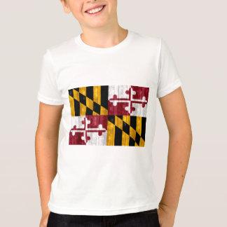 Wooden Marylander Flag T-Shirt