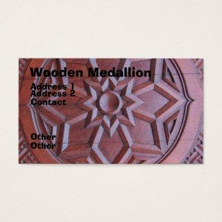 Wooden Medallion Business Card