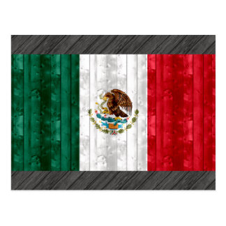 Wooden Mexican Flag Postcard
