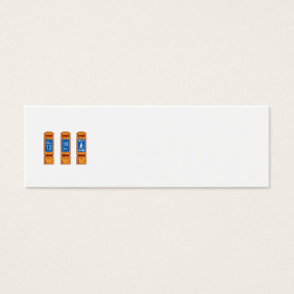 Wooden Mile Marker Signs Retro Mini Business Card
