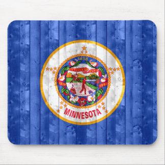 Wooden Minnesotan Flag Mouse Pad