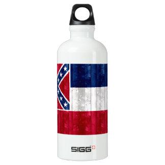 Wooden Mississippian Flag Water Bottle