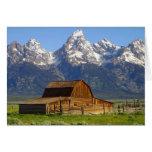 Wooden Mormon Row Barn Card