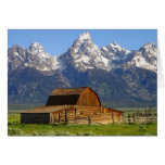 Wooden Mormon Row Barn Stationery Note Card