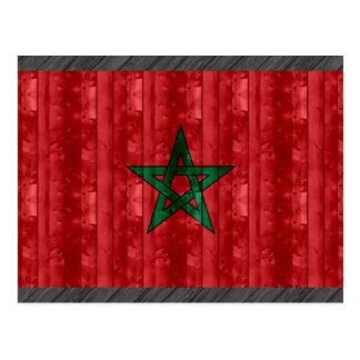 Wooden Moroccan Flag Postcard