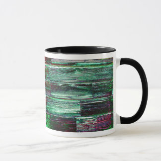 Wooden Mug Digital Realism Purple Green