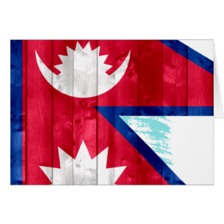 Wooden Nepalese Flag Cards