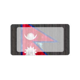 Wooden Nepalese Flag Labels