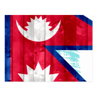 Wooden Nepalese Flag Postcards