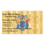 Wooden New Jerseyan Flag Business Card Template