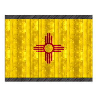 Wooden New Mexican Flag Postcard