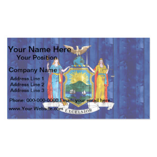 Wooden New Yorker Flag Double-Sided Standard Business Cards (Pack Of 100)