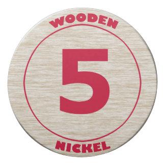 Wooden Nickel Eraser