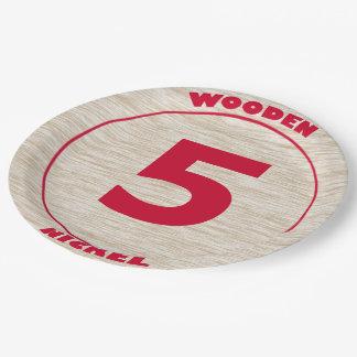 Wooden Nickel Paper Plate