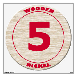 Wooden Nickel Wall Decal