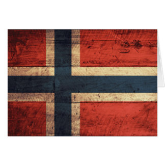 Wooden Norway Flag Cards