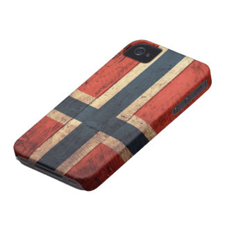 Wooden Norway Flag iPhone 4 Covers